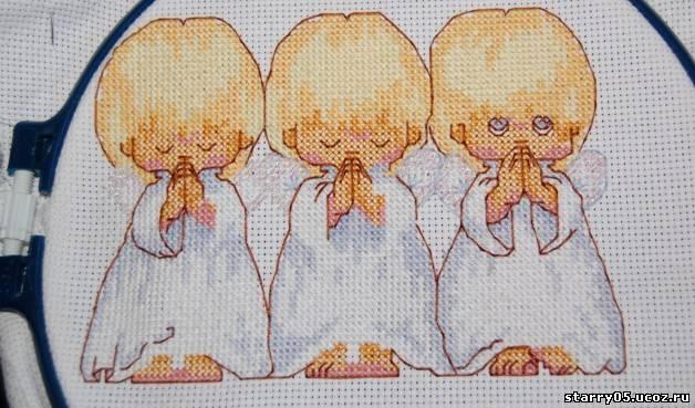 вышивка ангелочки